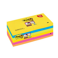 View more details about Post-it Super Sticky Z-Notes 76x 76mm Rio (Pack of 12) R330-SSRIO-P9+3