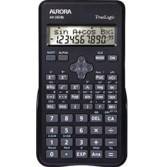 View more details about Aurora Black 2-Line Scientific Calculator (2 line display shows both sum and answer) AX582BL