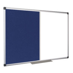 View more details about Bi-Office 1200 x 900mm Drywipe and Felt Combination Board - XA0522170