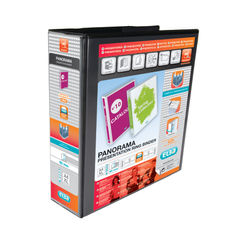 View more details about Elba Panorama 65mm 4 D-Ring Presentation Binder A4 Black (Pack of 4) 400008442