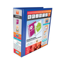 View more details about Elba Panorama 65mm 4 D-Ring Presentation Binder A4 Blue (Pack of 4) 400008675