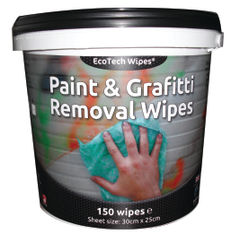 View more details about EcoTech Paint and Graffiti Wipes, Pack of 150 - EBPG150