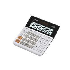 View more details about Casio 12-Digit Landscape Basic Function Maths Calculator White MH-12-WE-SK-UP