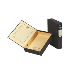 View more details about Rexel Classic Foolscap Black and Green Box Files (Pk5) – 30115EAST