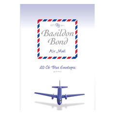 View more details about Basildon Bond Blue Airmail Envelope 114x162mm (Pack of 200) 100080079