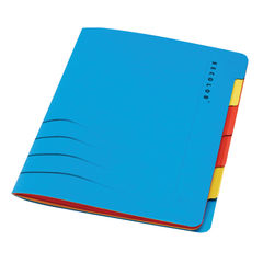 View more details about Jalema Secolor Sixtab 6- Part File A4 Blue (Pack of 5) 8331600-10791