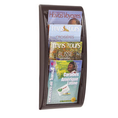 View more details about Fast Paper Quick Fit System Wall Display 4 x A4 Black F406101