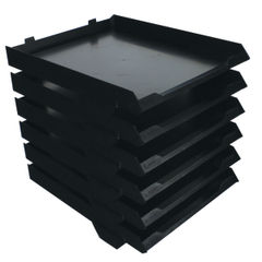 View more details about Avery Black A4 6 Tier Paper Stack (W250 x D320 x H300mm) 5336BLK