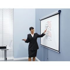 View more details about Nobo 2000 x 1513mm Wall Mounted Projection Screen - 1902393