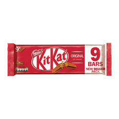 View more details about Nestle Milk Chocolate 2 Finger KitKats, Pack of 9 - 12339411