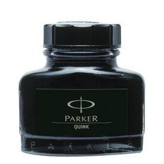 View more details about Parker Quink Black Permanent Ink Bottle 2oz S0037460