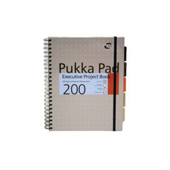 View more details about Pukka Pad Executive Ruled Wirebound Project Book A4 (Pack of 3) 6970-MET