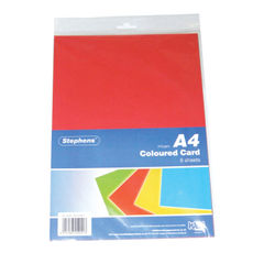 View more details about Stephens Assorted Coloured Card (Pack of 80) RS242451