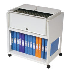 View more details about Rotadex Standard Universal Filing Trolley With Locking Lid Grey RT501S