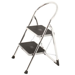 View more details about 2 Tread Chrome Folding Step Stool - 321677
