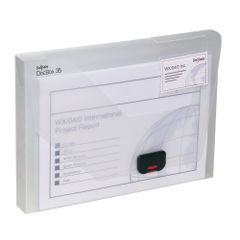 View more details about Snopake A4 35mm Clear Polypropylene Document Box - 12861