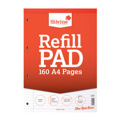 View more details about Silvine Ruled Headbound Refill Pad A4 160 Pages (Pack of 6) A4RPFM