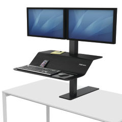View more details about Fellowes Lotus VE Sit-Stand Workstation Dual 8082001