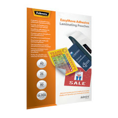 View more details about Fellowes Admire EasyMove A3 Laminating Pouches (Pack of 25) 5601801