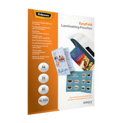 View more details about Fellowes Admire EasyFold A4 Laminating Pouches (Pack of 25) 5601901