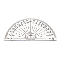 View more details about Classmaster 180 Degree Protractor Clear (Pack of 10) 899595