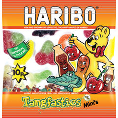View more details about Haribo 20g Mini Bags Tangfastics, Pack of 100 - 73143