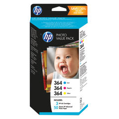 View more details about HP 364 Photosmart Photo Value (Pack of 50) Sheets 10x15cm T9D88EE
