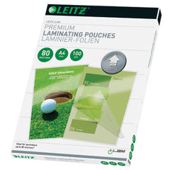 View more details about Leitz iLAM A4 Premium 160 Micron Laminating Pouches, Pack of 100 - 74780000