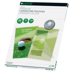 View more details about Leitz iLAM A3 Premium 160 Micron Laminating Pouches, Pack of 100 - 74850000