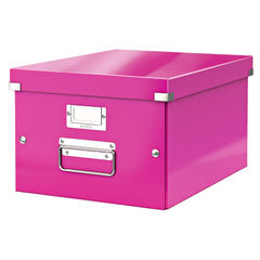 View more details about Leitz Pink Click and Store Medium Storage Box - 60440023