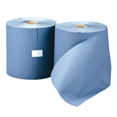 View more details about Leonardo Blue 1-Ply Hand Towel Rolls, Pack of 6 - RTB200DS