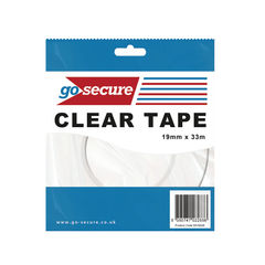View more details about Go Secure Clear 19mm x 33m Small Tape, Pack of 12 - PB02298