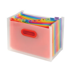 View more details about Snopake Rainbow 13 Part Desk Expander A4 15809