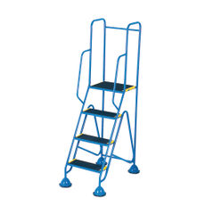 View more details about Fort 4 Tread Full Handrail Mobile Steps - WS514