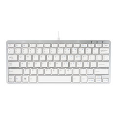 View more details about R-GO Compact Ergonomic Keyboard Wired White RGOECUKW