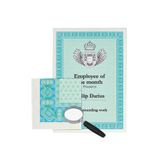 View more details about DECAdry A4 Turquoise Helicoid Certificate Paper, 115gsm, Pk 70 - DSD1052