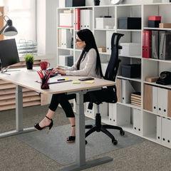 View more details about Floortex 1520 x 1210mm Rectangular Carpet Chair Mat - 1115223ER