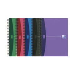 View more details about Oxford Assorted A5 Opaque Poly Wirebound Notebooks, Pack of 5 - 100101300