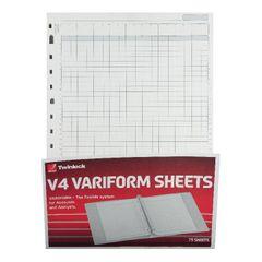View more details about Rexel Variform V4 14-Column Cash Refill (Pack of 75) 75934