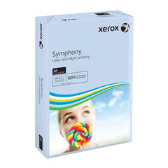 View more details about Xerox Symphony A4 Pastel Blue 160gsm Card (Pack of 250) XX93222