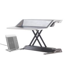 View more details about Fellowes Lotus Black Sit Stand Workstation - 0007901
