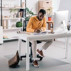 View more details about Ecotex Evolution 1200 x 900mm Rectangular Carpet Chair Mat - FL74151