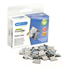 View more details about Rapesco Supaclip 40 Stainless Steel Refill Clips, Pack of 200 - CP20040S