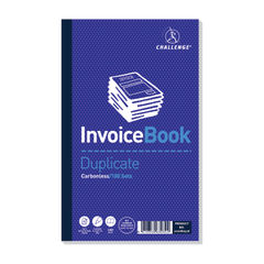 View more details about Challenge Carbonless Duplicate Invoice Book 100 Sets 210x130mm (Pack of 5) 100080526