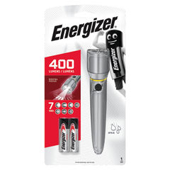 View more details about Energizer Metal LED Torch 2xAA Silver 634041