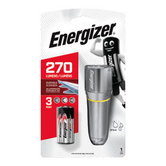 View more details about Energizer Value Small Metal Torch 3xAAA Silver 633657