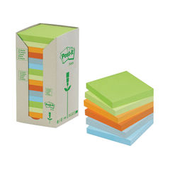 View more details about Post-it Notes Recycled 76 x 76mm Pastel Rainbow (Pack of 16) 654-1RPT