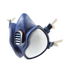 View more details about 3M Blue Lightweight Half Mask Respirator - 4251