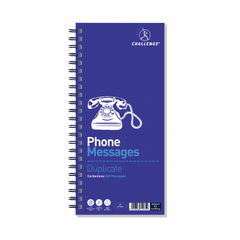 View more details about Challenge Wirebound Telephone Message Book - 100080054