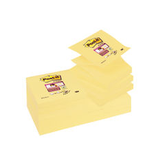 View more details about Post-it 76 x 76mm Canary Yellow Super Sticky Z-Notes, Pack of 12 - R330-12SSCY